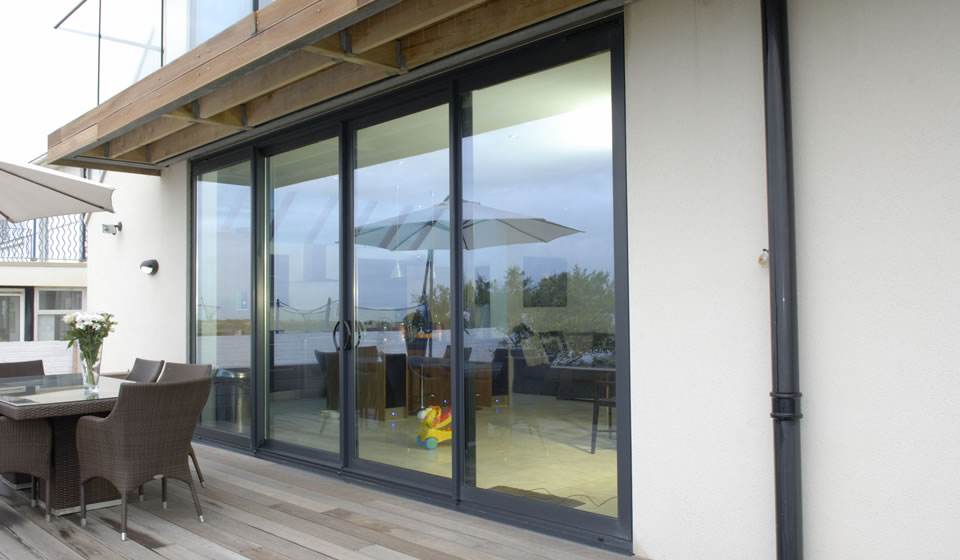 Aluminium Inline-sliding Patio Doors in Bath
