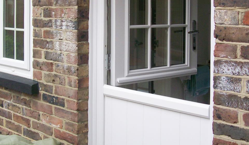 White Composite Stable Door in Bath